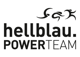 hellblau.POWERTEAM Logo