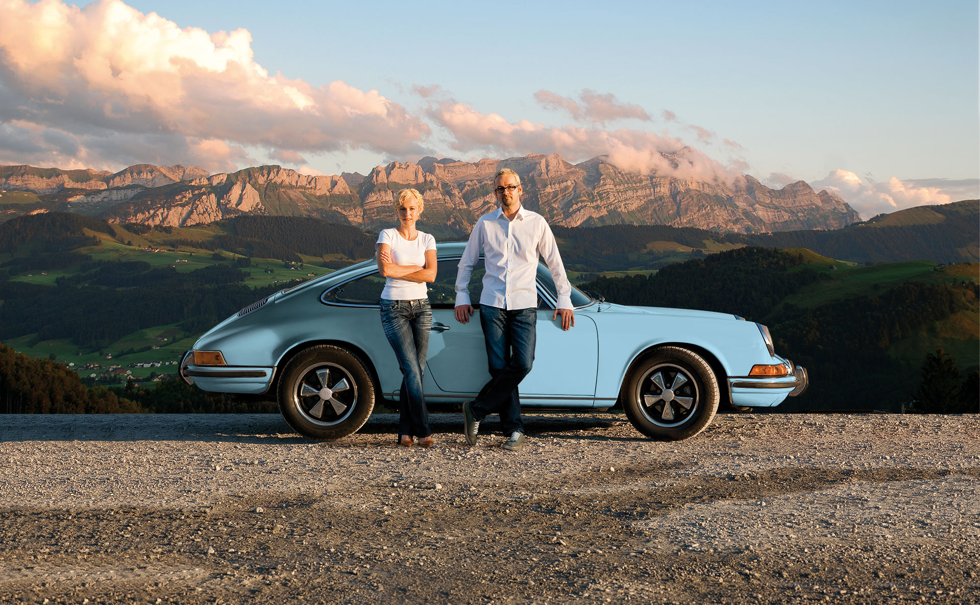 hellblau. Porsche Peter Mirlach Christina Berlinger