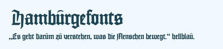 Typografie Johannes Schriftart Beispiel