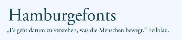 Typografie Garamond Schriftart Beispiel