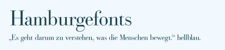 Typografie Bodoni Schriftart Beispiel