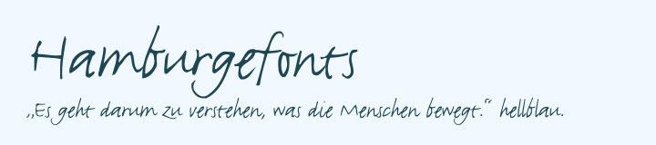 Typografie Justlefthand Schriftart Beispiel