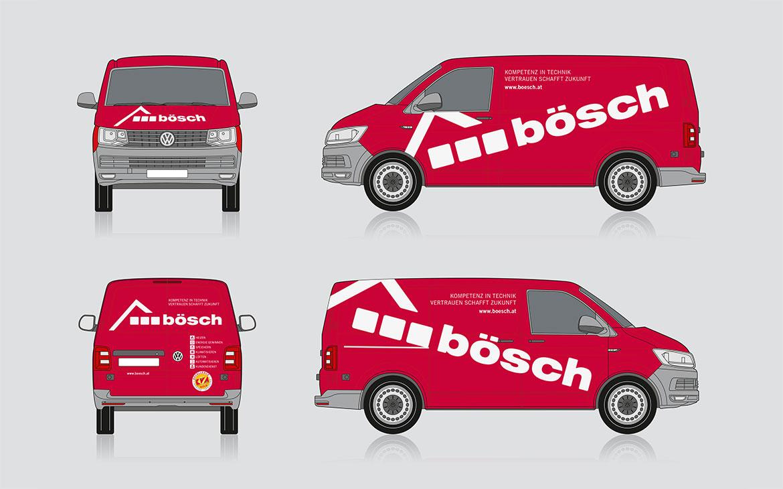 Bösch Fahrzeugbeschriftung Illustrationen