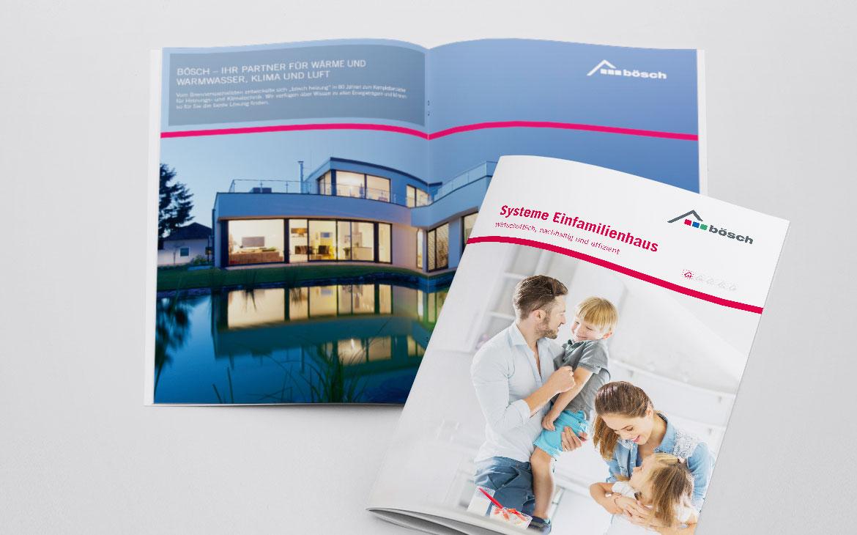 Bösch Broschüre für Einfamilienhaus Systeme