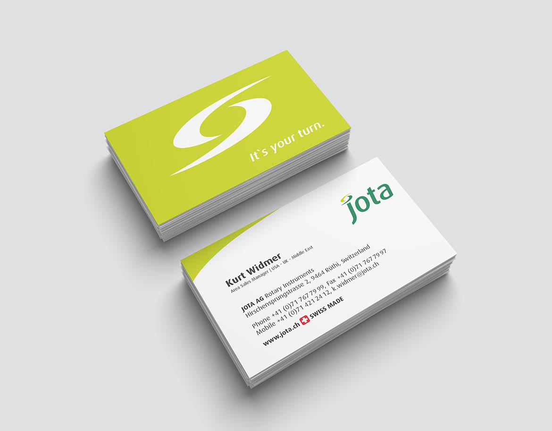 Jota AG Rotary Instruments Visitenkarte