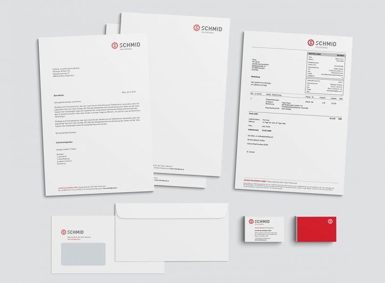 Schmid Group Briefausstattung