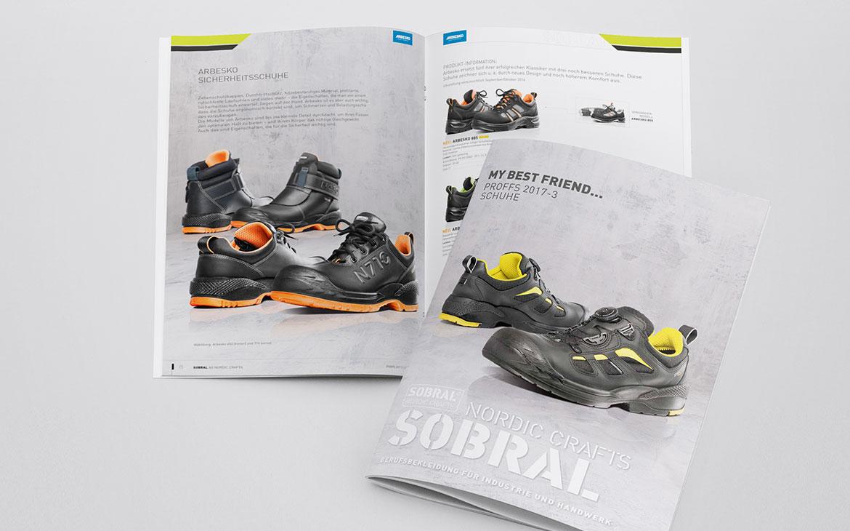Broschüre für Schuhe