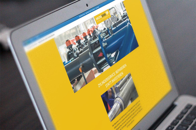 Newsletter zu Zylinderservice Screenshot auf Laptop