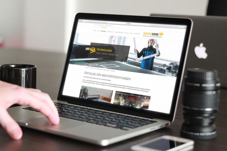 tecnoseal Website auf Macbook