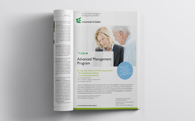 Advanced Management Program Inserat in Magazin