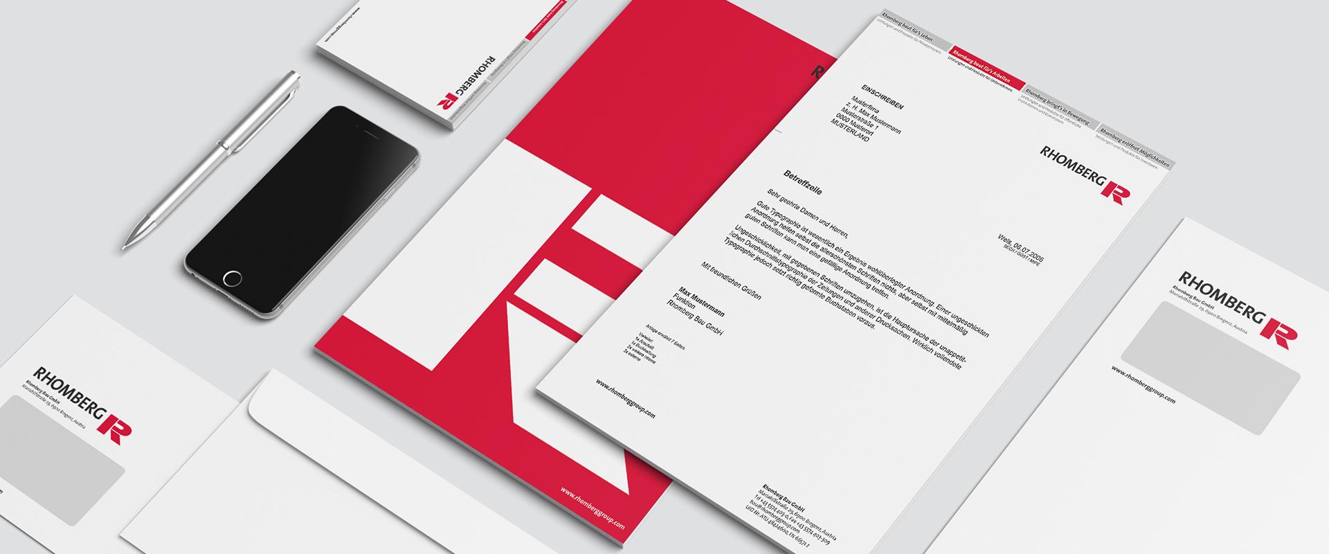 Corporate Design Rhomberg Bau