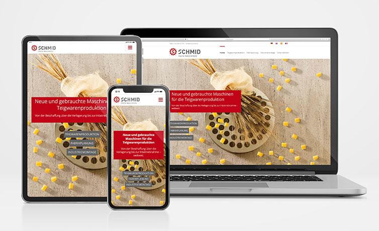 SME Schmid Responsive Website auf Macbook iPad und iPhone