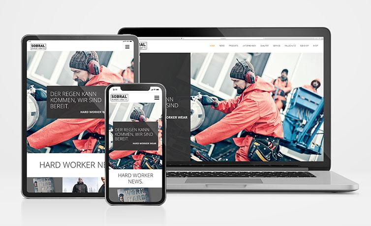 Sobral Responsive Website auf Macbook iPad und iPhone