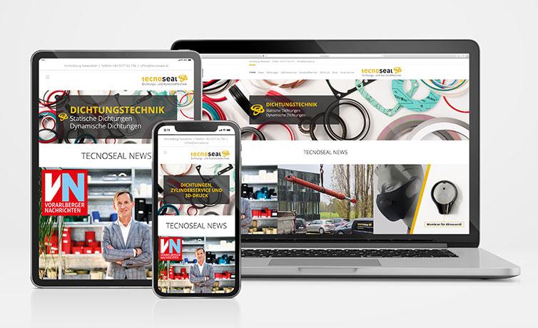 tecnoseal Responsive Website auf Macbook iPad und iPhone